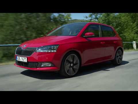 The new Skoda Fabia Driving in the country