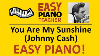 🎹 EASY piano: You Are My Sunshine keyboard tutorial (Johnny Cash) by #EPT with note names