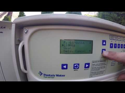 Changing pump speed with Easy Touch