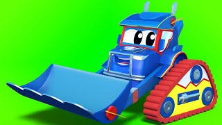 Truck cartoons for kids -  Super BULLDOZER and TRACTOR save the babies - Super Truck in Car City !