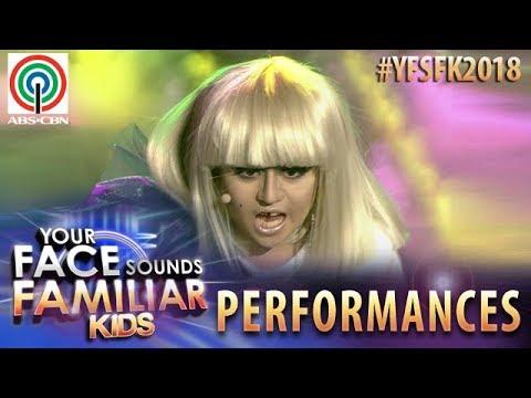 Your Face Sounds Familiar Kids 2018: Esang De Torres as Lady Gaga   Paparazzi