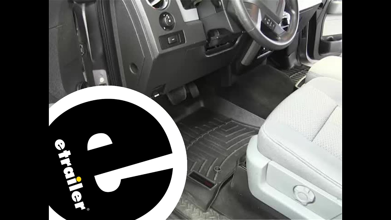 Review Of The WeatherTech Front Floor Liners On A 2012 Ford F 150    Etrailer.com