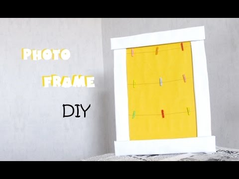 DIY n°5] photo frame with cardboard - YouTube