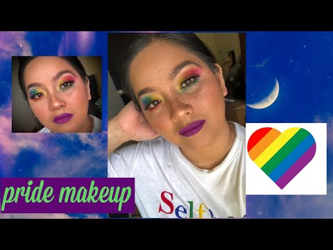 super easy pride makeup tutorialbeginners friendly