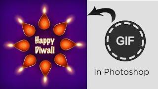 How to make Diwali Gif Animation in Adobe Photoshop   frame Animation