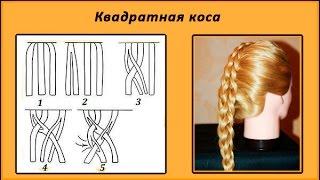 плетение кос видео для начинающих