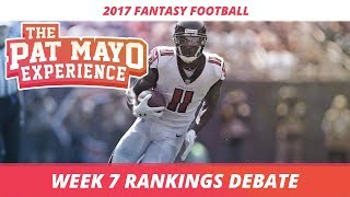 2017 fantasy football - week 7 rankings debate, sleepers, starts and sits