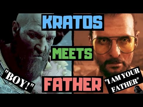 Kratos Meets Father God Of War 4 Vs Far Cry 5 Mash Up Funny Quotes Lines Dialogue Youtube