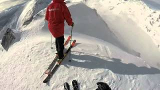 Skiing the Elevator at the Alta Chutes, The Remarkables, Queenstown