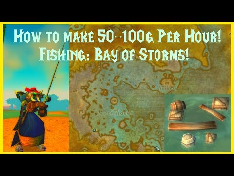 Classic WoW: How To Make 50-100g Per Hour!! Fishing: Bay Of Storms