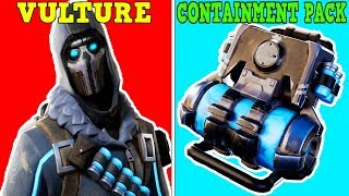 *NEW* VULTURE SKIN + CONTAINMENT PACK BACKBLING! (VULTURE SKIN COMBOS!) | Fortnite Battle Royale!