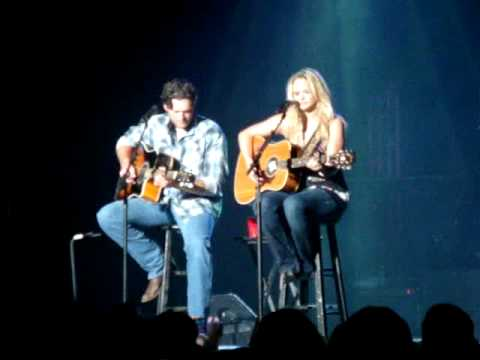 Miranda and Blake singing
