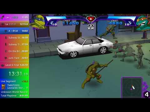 TMNT 2003 (PC). Speedrun Co-op Story Mode Any% [1:21:02] Former WR