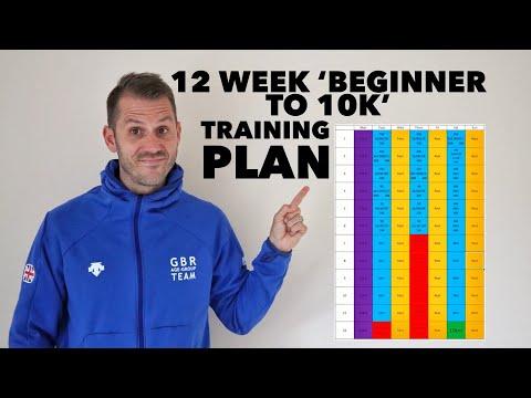 12 week 'beginner to 10k' training plan