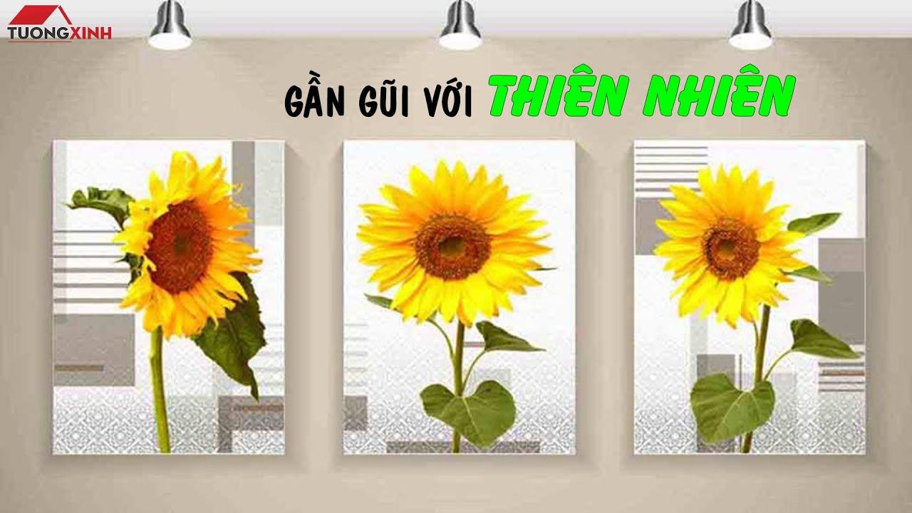 Tường Xinh – Tranh hoa Hướng Dương treo tường phòng khách, phòng ngủ – HL293