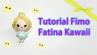 Tutorial Fimo Fatina chibi doll (polymer clay tutorial kawaii fairy doll)