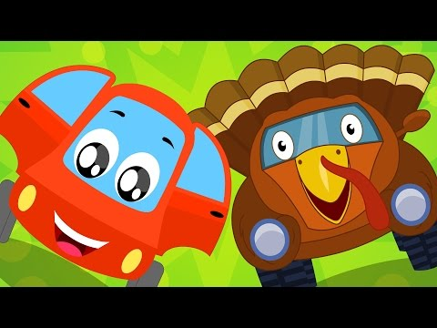 Little Red Car | Turkey Song | Thanksgiving Song