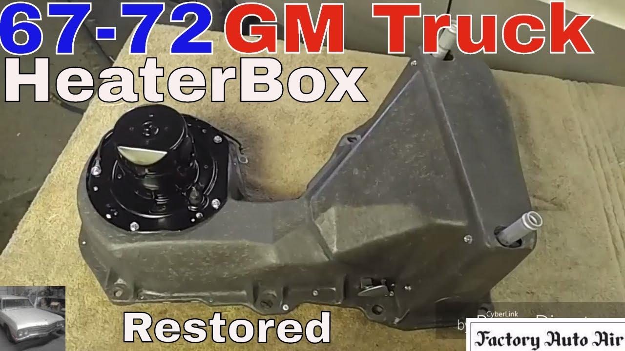 67 72 Gm Truck Heater Box Restoration Youtube Blazer Wiring Diagram