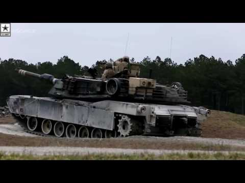 Military   U.S. Marines M1A1 Abrams Main Battle Tank in Action