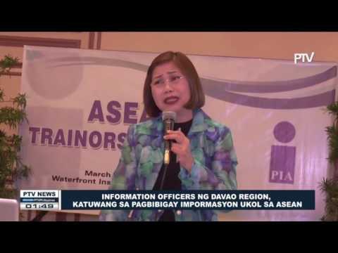 #ASEAN: Information officers ng Davao Region, katuwang sa pagbibigay impormasyon