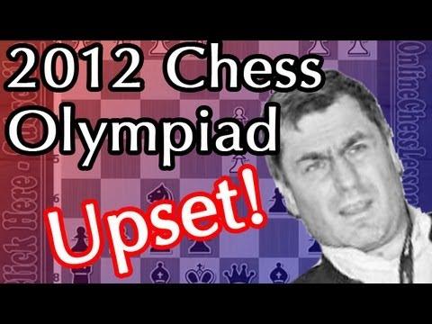 Massive Upset! Grandmaster Vassily Ivanchuk loses to GM Al-Modiahki (2012 Chess Olympiad)