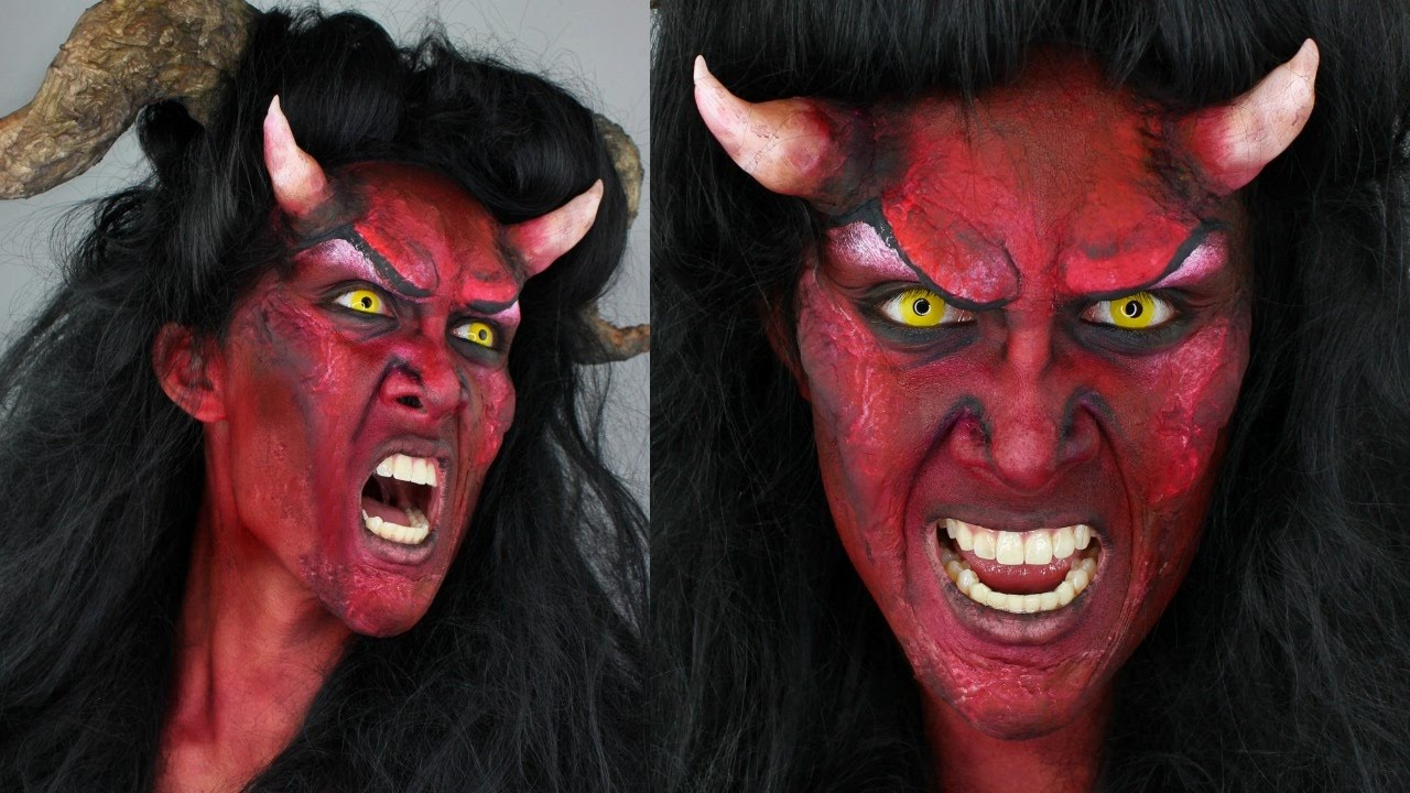 devil makeup tutorial diy horns 31 days of halloween youtube. Black Bedroom Furniture Sets. Home Design Ideas