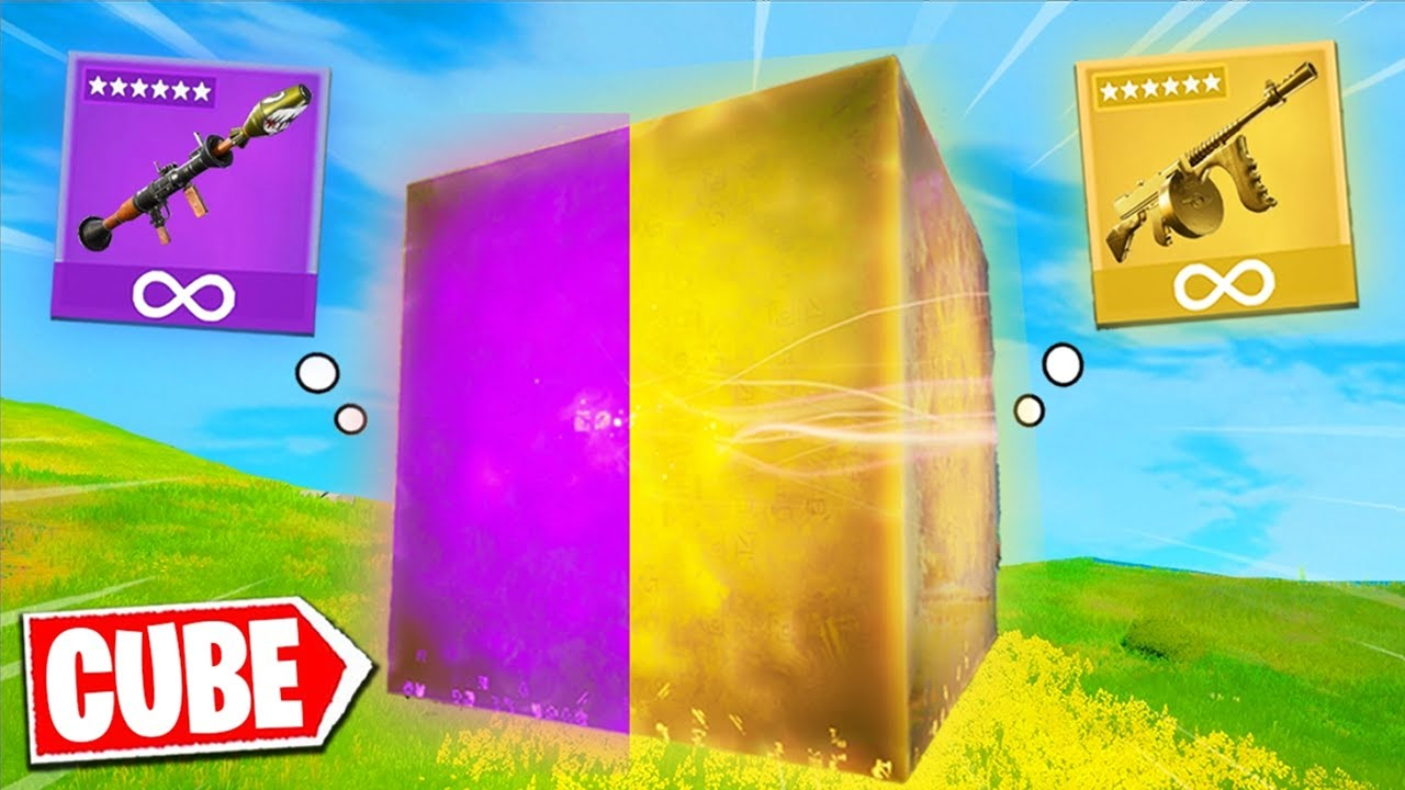Fortnite except the CUBE decides my weapons