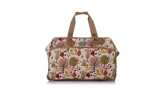 Lily Bloom Forest Owls Wheeled Duffle