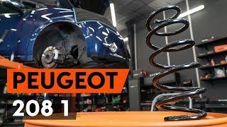 Come e quando cambiare Molle ammortizzatore anteriore sinistro destro PEUGEOT 208: video tutorial
