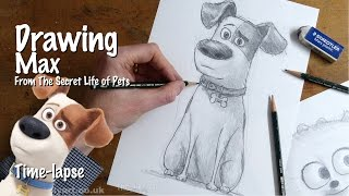 Drawing Max from The Secret Life of Pets time-lapse