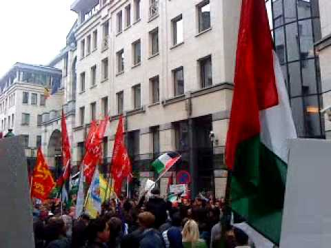 protest brussels against Israel attack on Free Gaza Ships(4) 31.5.2010