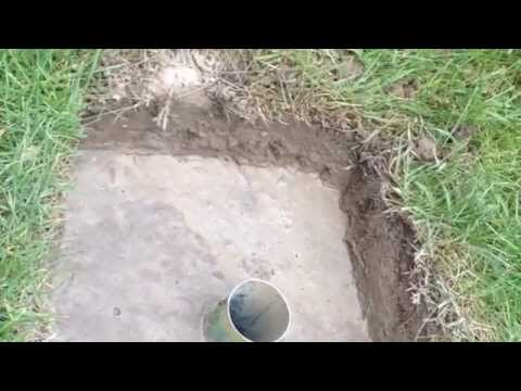 How To Dig And Cement A Rotary Clothes Line Base And Save Money