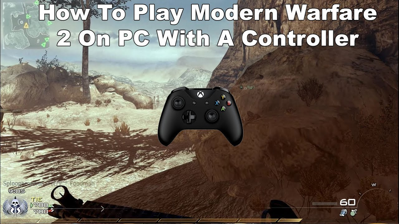 mw2 pc with ps4 controller