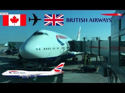 Flight Review British Airways B747-400 G-CIVV Toronto to London Heathrow 26/04/2017