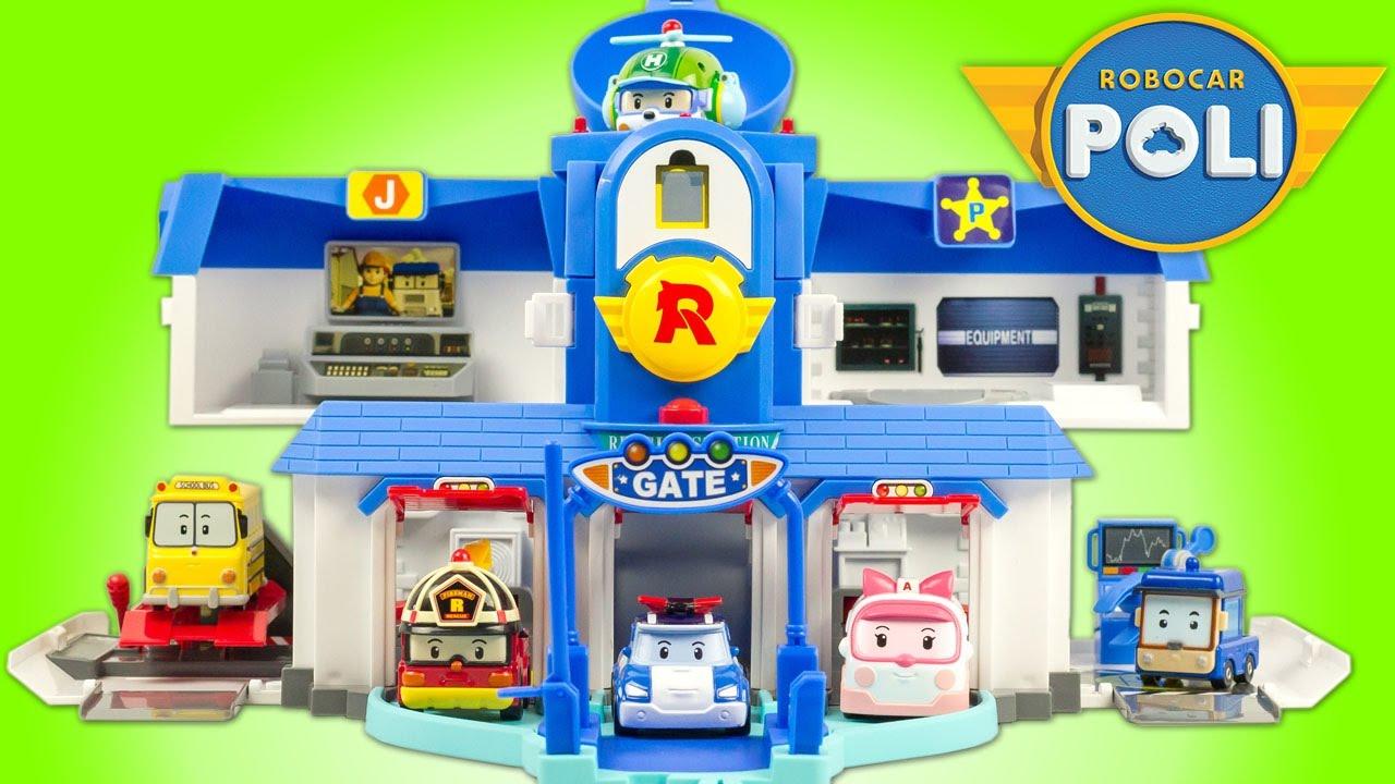 robocar poli quartier g n ral fonctions headquarters jouet toy review juguetes youtube. Black Bedroom Furniture Sets. Home Design Ideas