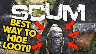 BEST LOOT HIDING TRICK! // SCUM //  Live Stream Gameplay