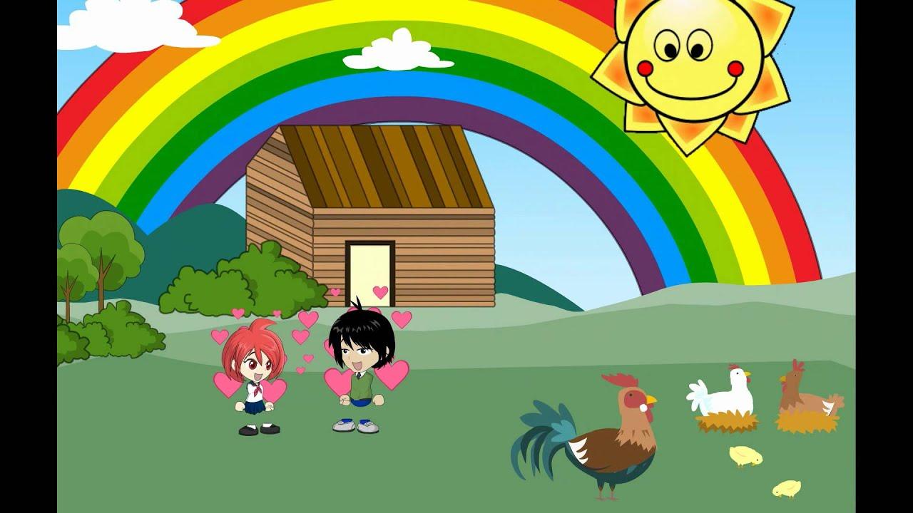 ♫♪ DE COLORES ♫♪ canción infantil completa con dibujos animados ...
