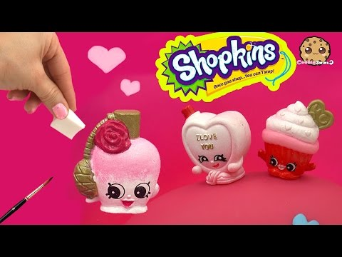 DIY Custom Valentines Perfume Bottle SHOPKINS Do It Yourself Painting Craft Toy Video
