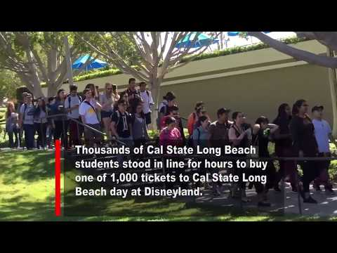 $10 tickets to Disneyland draws a crowd at Cal State Long Beach