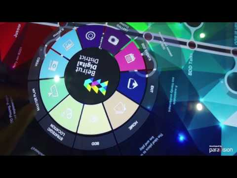 """BDL ACCELERATE 2016 - BEIRUT DIGITAL DISTRICT 65"""" MULTI-TOUCH TABLE"""