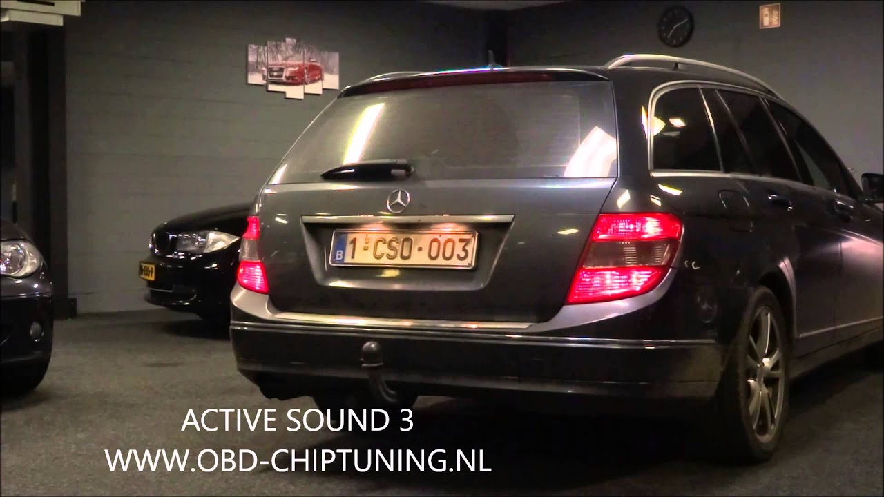 mercedes w204 c200cdi active sound exhaust made by obd. Black Bedroom Furniture Sets. Home Design Ideas