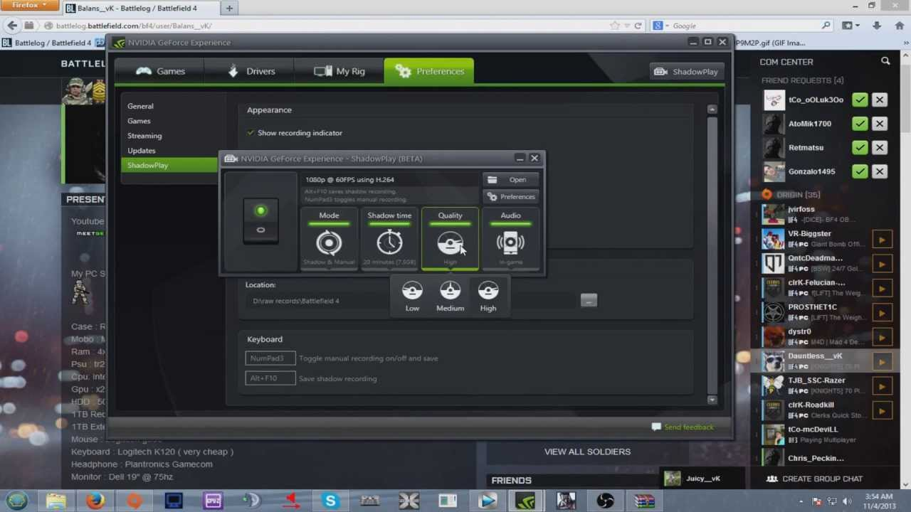 How To Record With Nvidia Shadowplay And Having In Game Sound Only