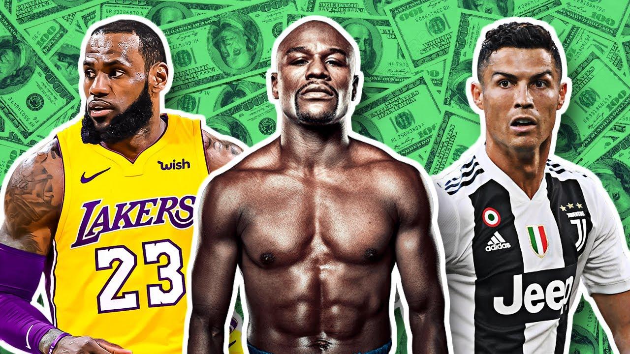 Најплатените спортисти во последните 10 години