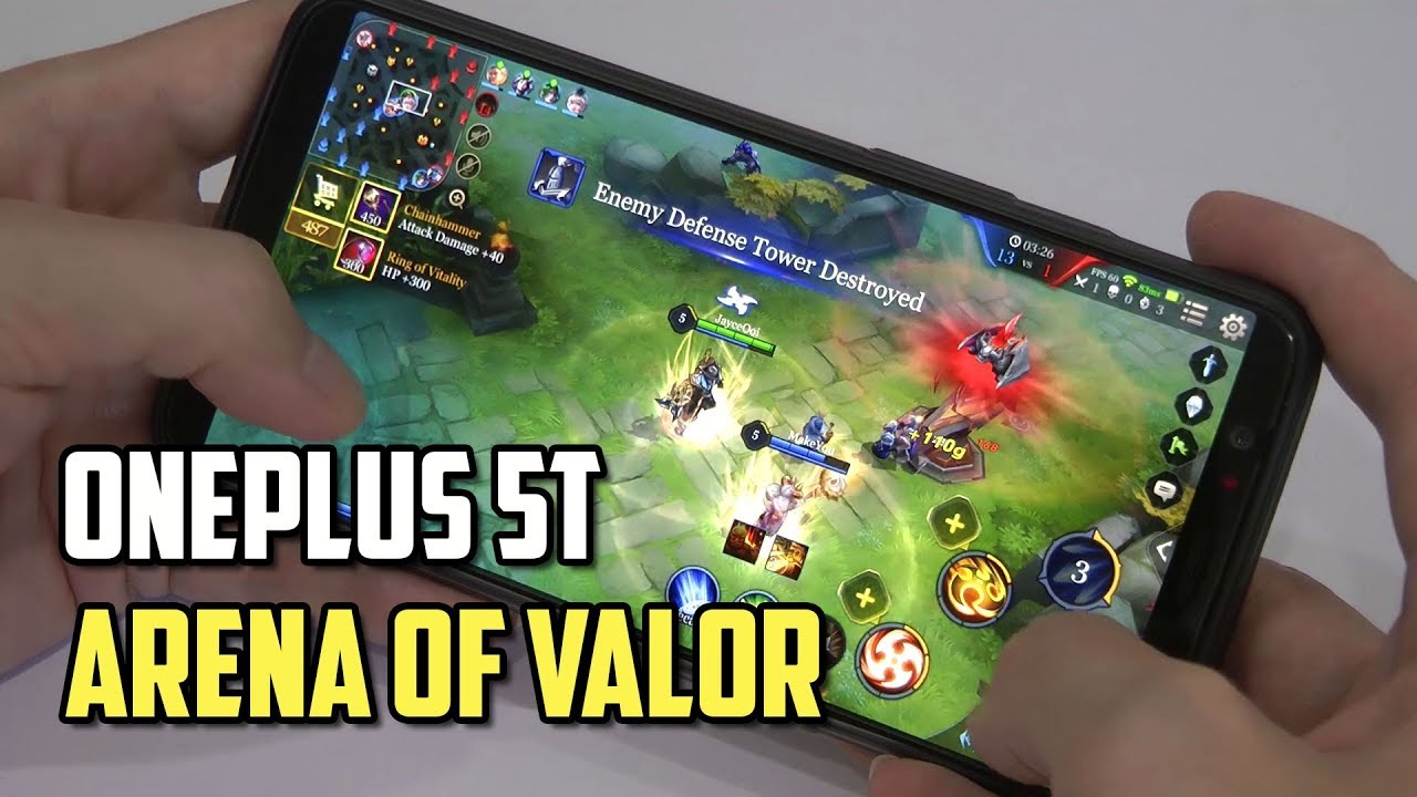 Oneplus T Best Smartphone For Aov Arena Of Valor High Frame Rate Mode Supported