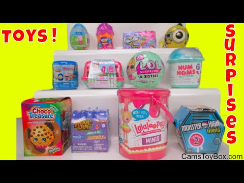 Surprises Toys LOL Series 2 Squinkies Mystery Hut Num Noms 4 Lalaloopsy Monster High Lil Sisters Pup