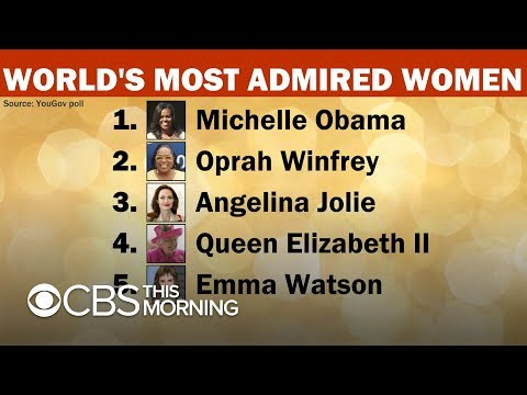 CJ the DJ - Forever FLOTUS Michelle Obama named most admirable woman in the world