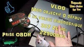 VALISE DIAGNOSTIQUE - Peugeot 307 hdi - Prise OBDII - Code defaut - VLOG //Rapas4U
