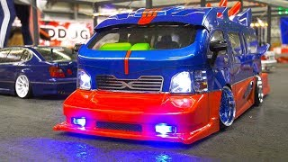 AMAZING RC MODEL DRIFT BUS IN DETAIL AND MOTION!! *RC DRIFT CAR ACTION