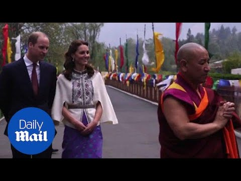 Duke and Duchess join procession with Bhutan's royal couple - Daily Mail