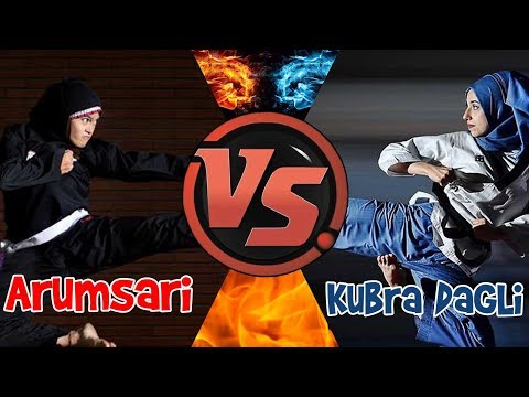 Amazing Martial Arts! Kubra Dagli Taekwondo Turkey VS Arumsari Silat Indonesia, How is Beautiful?